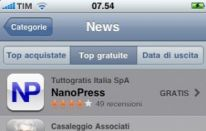 App Nanopress per iPhone boom: 50.000 download in 15 giorni