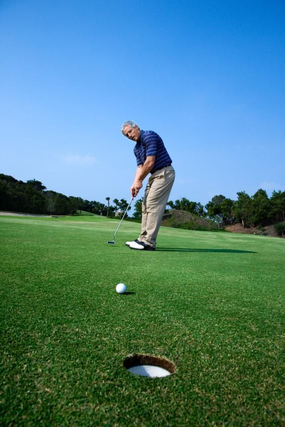 lezioni golf putt pendenza