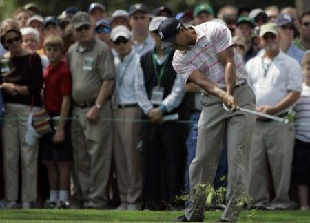 tiger woods augusta swing
