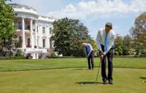 Obama: dal basket al golf e via con le metafore