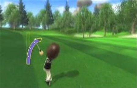 Wii Sports Resort Golf swing