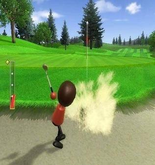Wii Sports Resort Golf bunker