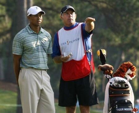 Steve Williams e Tiger Woods campo