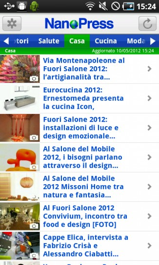 NanoPress per Android, casa