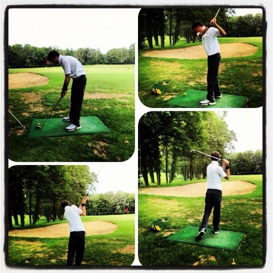 Lezione di golf, fasi del tiro