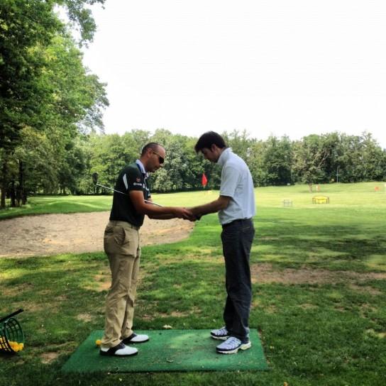 Lezione di golf, impugnatura
