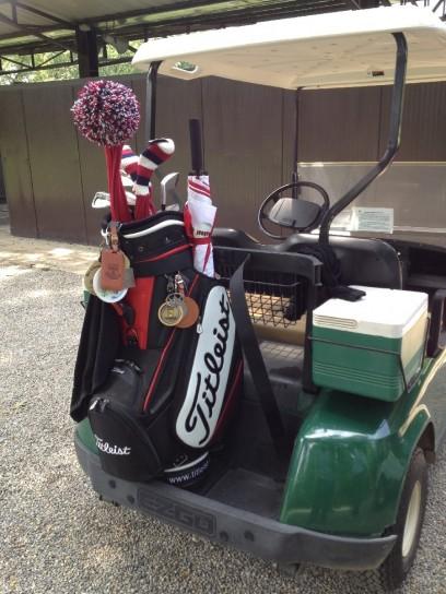 Lezione di golf, macchina