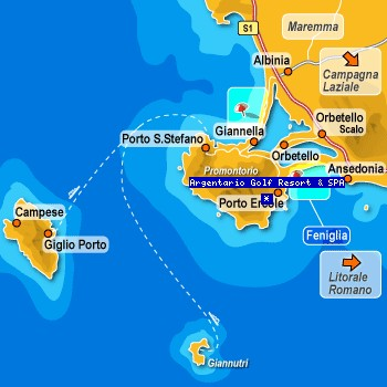 Argentario Golf Club location