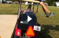 Salto della golf cart disastroso [VIDEO e FOTO]